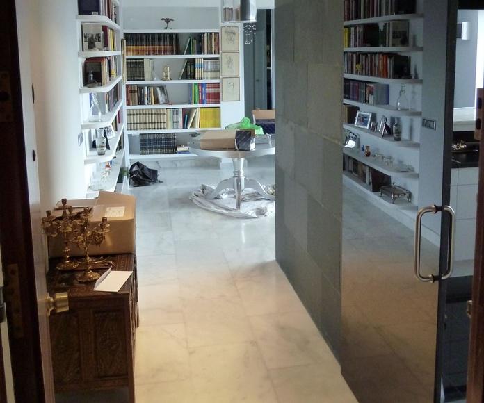 Puerta cocina en vidrio. Cristaleria en Madrid. CRISTALERA MADRILEÑA