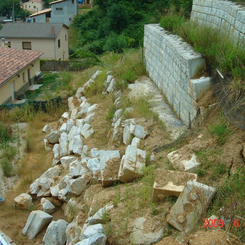 Estudio de Estabilidad de Taludes en la calle Sant Llop, parcelas P-704-711-713-714. Urb. Residencial Riells I. TM Riells i Viabrea. BARCELONA.