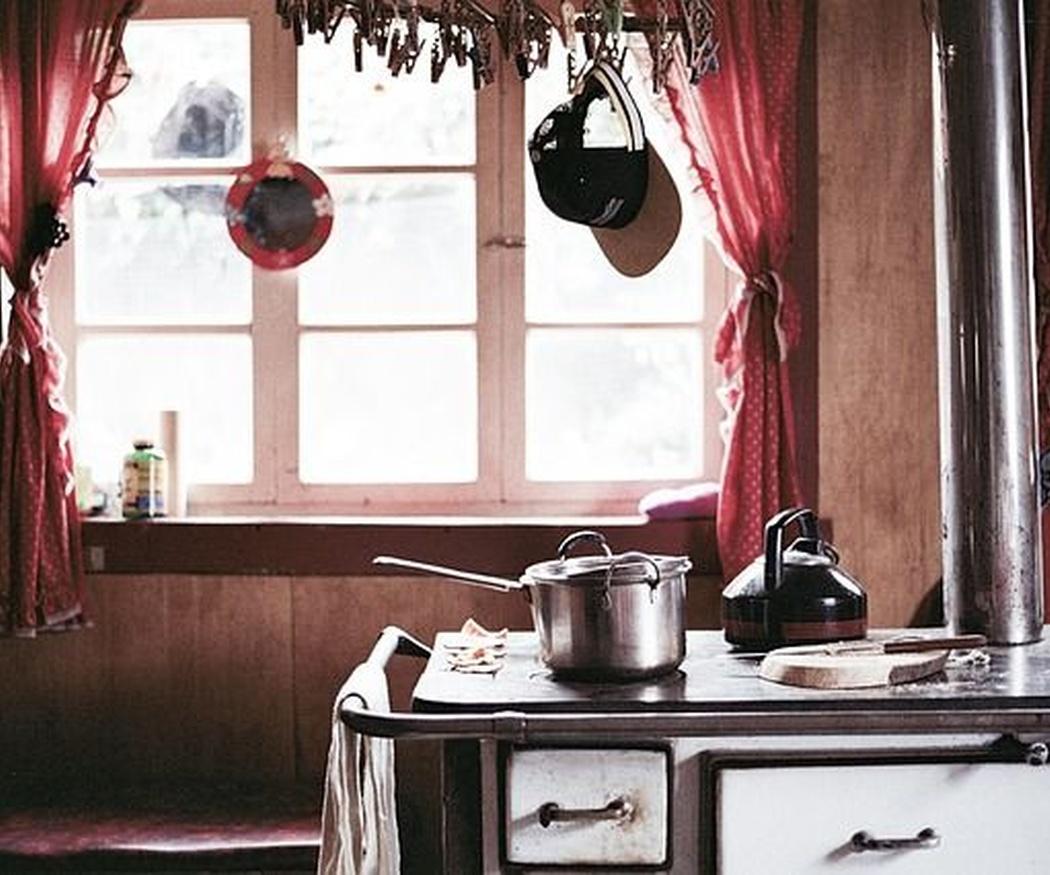 Una cocina estilo vintage