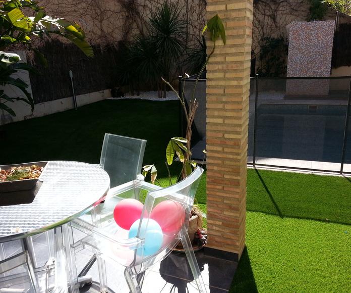 Montaje proyecto en vivienda particular en Valencia con césped artificial