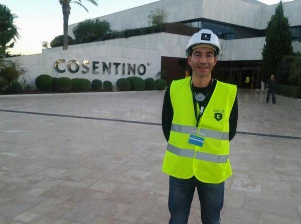 Visita a las instalaciones de Cosentino