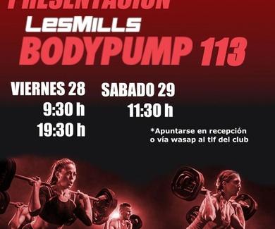 Presentacion Bodypump 113