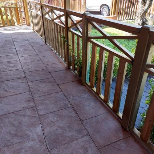 Cierre terraza en madera autoclave modelo hecho por carpintería Florencio Veiga