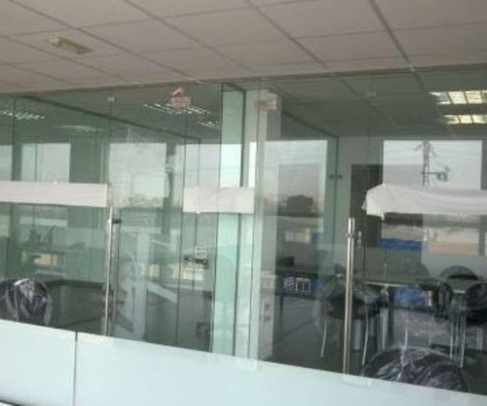 Divisorias de oficina vidrio