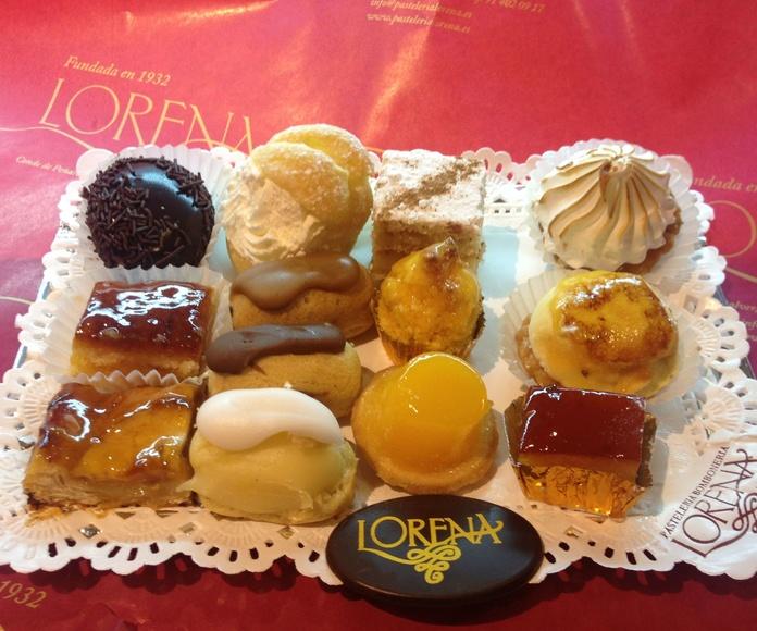 pasteles variados