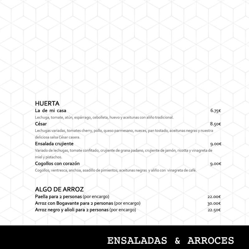Ensaladas & Arroces.
