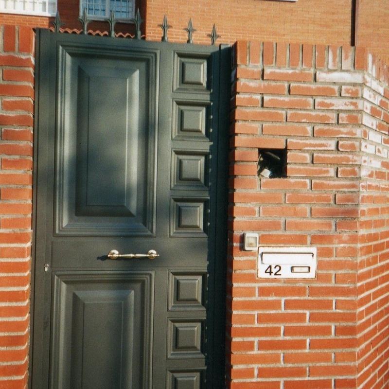 Puerta de paso para peatones,de cuarterones