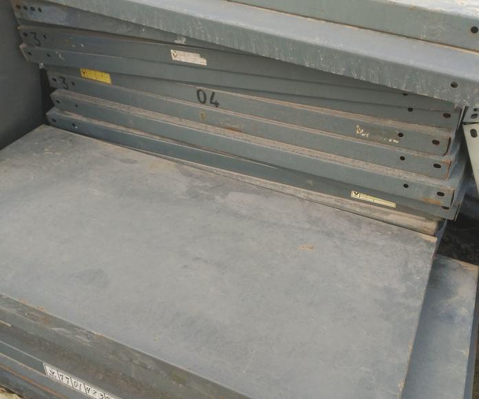 chapas de estanterias en chatarras clemente de Albacete