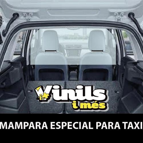 Mamparas especiales para taxi en Manresa