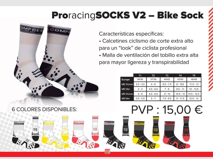Calcetín tecnico pro racing socks v2 - bike sock: TIENDA ONLINE de Ortopedia La Fama