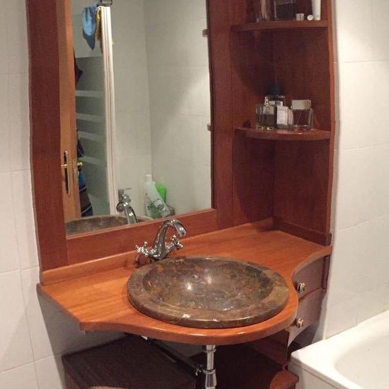 Muebles para baño: Productos y servicios de Carpintería Rebollo Ponce
