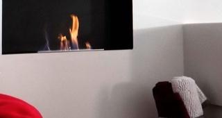 Ambiente acogedor con chimenea