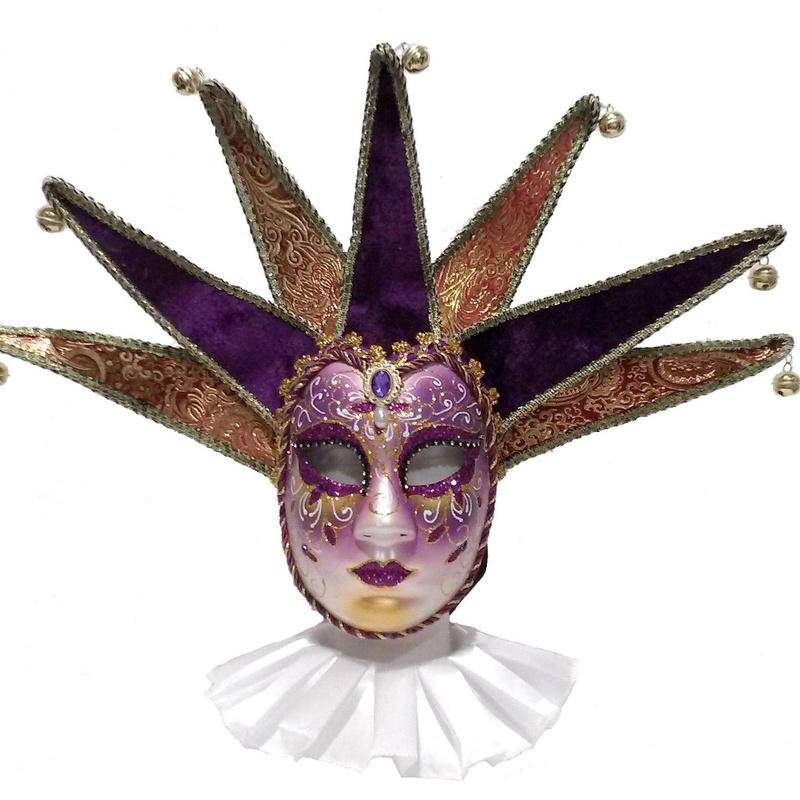 Máscara veneciana morada