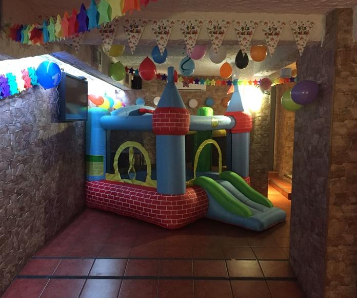 Restaurante con Castillo Hinchable en Barrio del Pilar Madrid