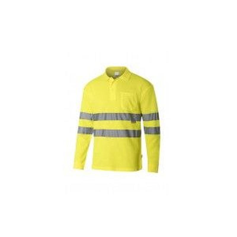 Serie 305514 / Polo algodón manga larga alta visibilidad: Nuestros productos  de ProlaborMadrid