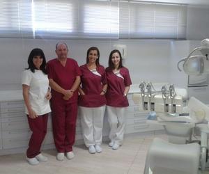 Equipo médico de la clínica dental
