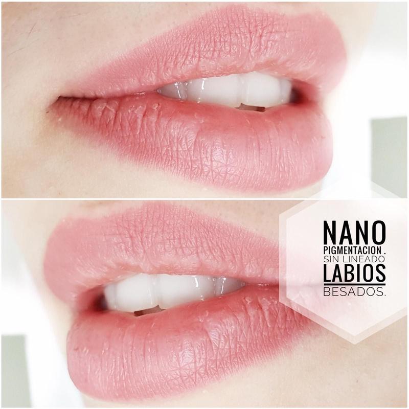 Nano pigmentación de labios efecto barra de labios: Servicios  de Centro de mirada Lolita Fernándes