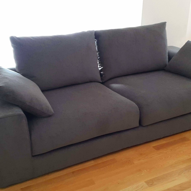 Tapizado de sofá, con tejido chenilla anti mancha