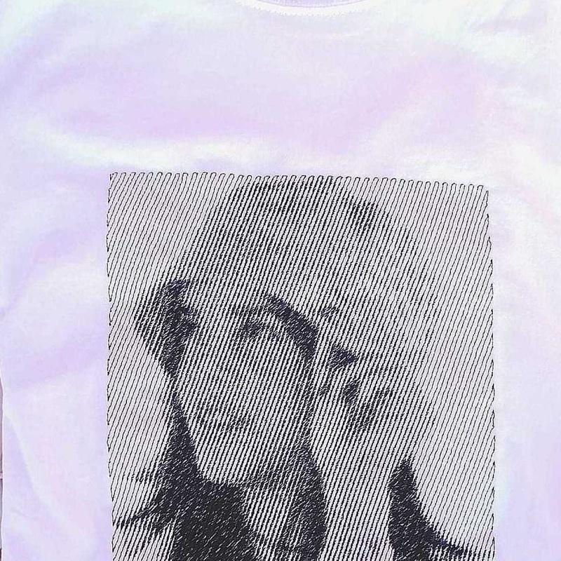 Bordado de fotografía en camisetas