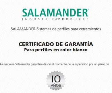 SALAMANDER - Garantia