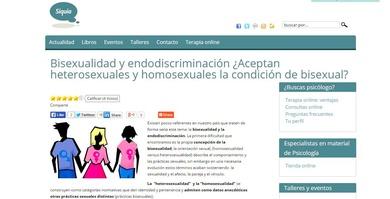 Nueva publicación en Siquia,  Bisexualidad: Endodiscriminación y diversidad sexual.