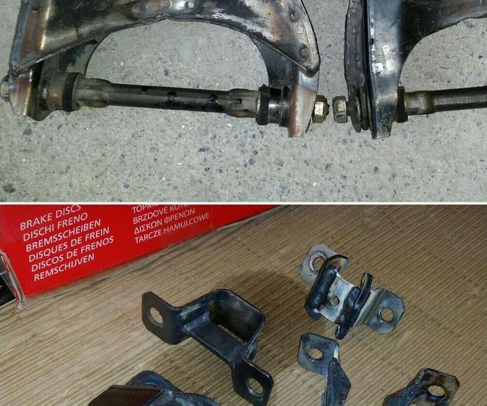modificación del anclaje para la suspensión coche de rally