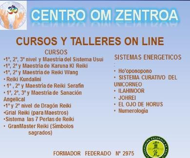CURSOS  DE REIKI Y TALLERES ENERGÉTICOS  ON LINE