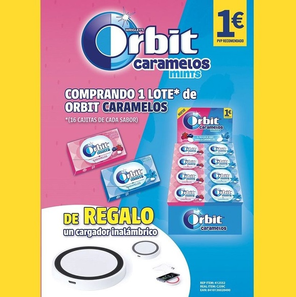 LOTE ORBIT CARAMELOS MINTS: Productos de Sarigabo, S. L.