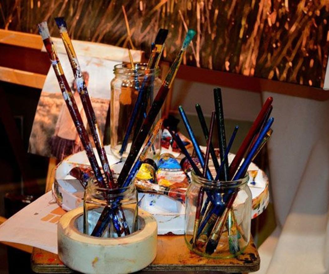 Varios modelos de pinceles según la forma