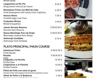Carta Los Caracoles. Carretera Frigiliana Torrox, km 4,5, Torrox (Málaga)