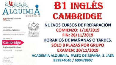 B1 INGLÉS. Curso de preparación al examen oficial del 30/11/2019
