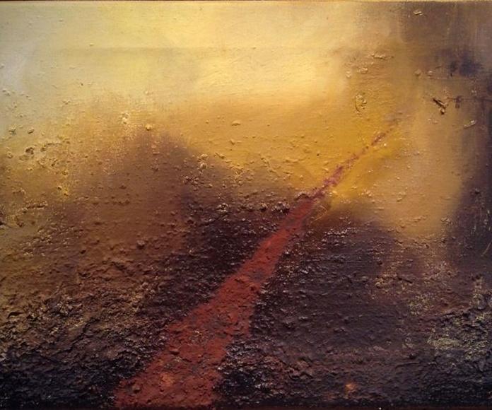 Tierra Roja II. Técnica mixta sobre lienzo. 35 X 50 cm