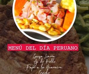 Menú del día peruano