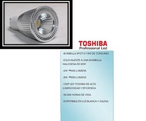 3.1 BOMBILLA LED TOSHIBA 6W Y 8W.