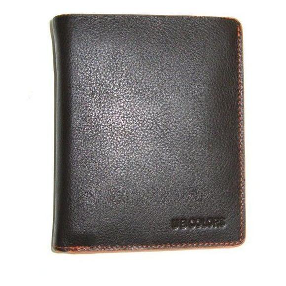 Cartera de piel marrón con bordes naranjas: Productos de Zapatería Ideal Alcobendas