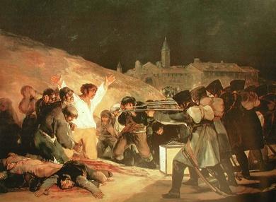 hoy 3 de mayo se produjeron los fusilamientos de 1808 en Madrid