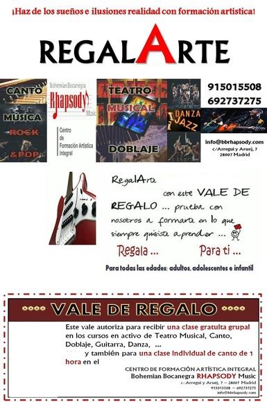 Conocenos con RegalArte - vale de regalo para formación artística