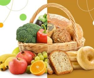 Vida sana con alimentos saludables