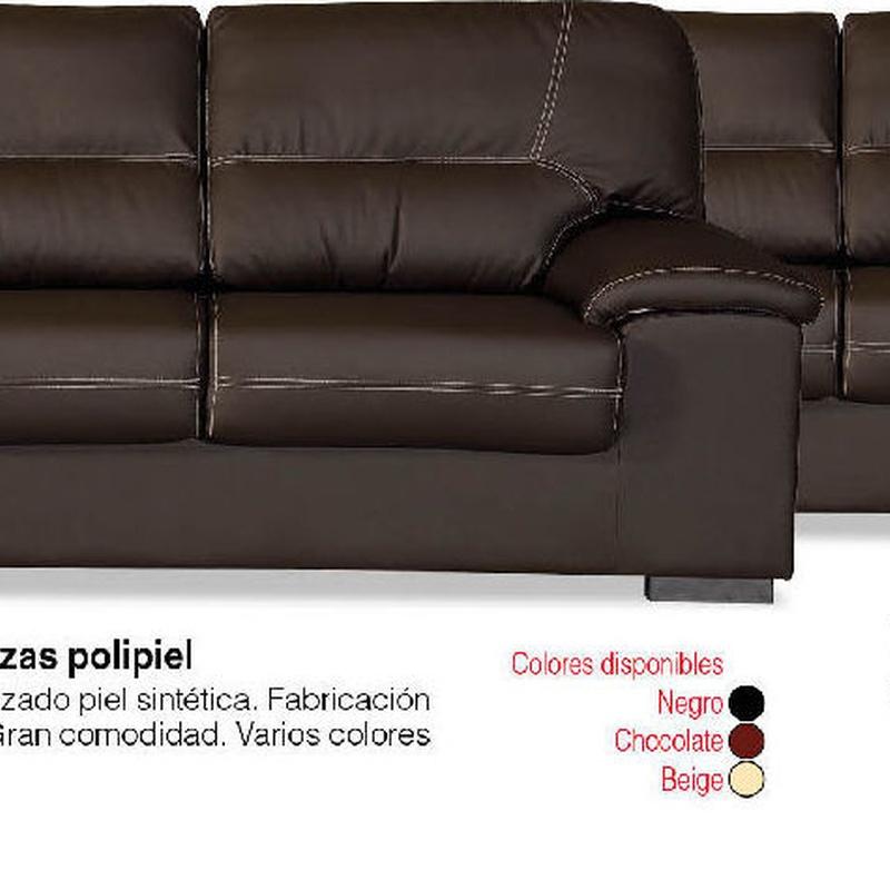 Conjunto Sofás Premium 3+2 plazas Piel Sintética ---459€: Productos y Ofertas de Don Electrodomésticos Tienda online