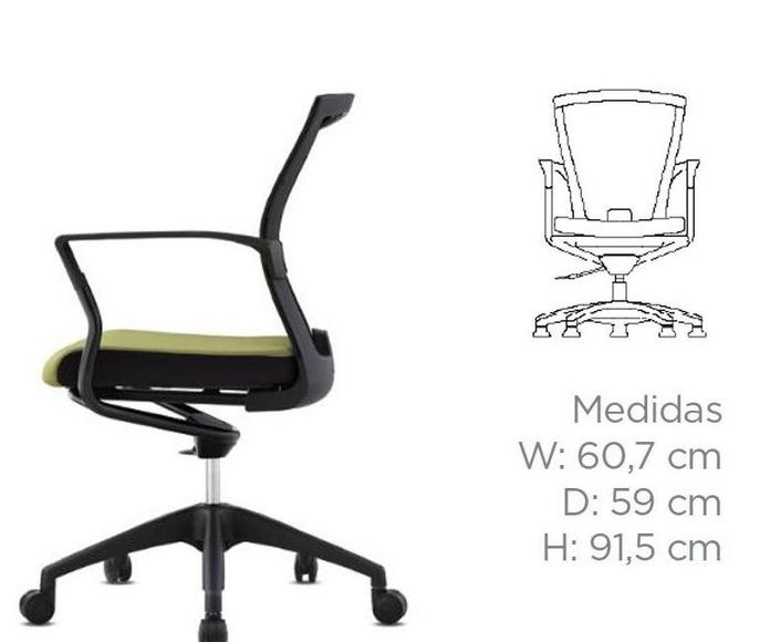 sillon ergonomico radius-06. asiento tap verde   (+30 €)