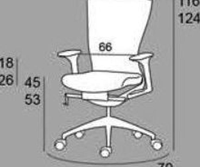 Actuestil - Silla de oficina radius con cabezal, color Negro  de Actuestil