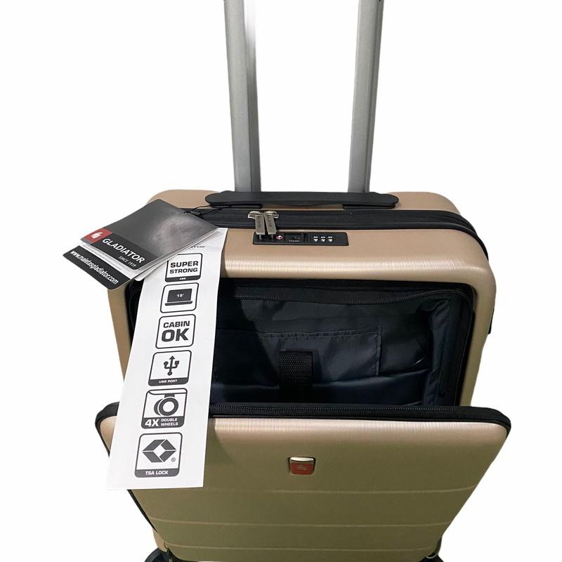 Maleta cabina , con bolsillo para ordenador, material polipropileno, con TSA, precio 75€