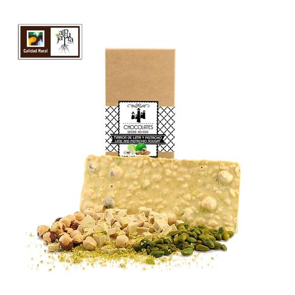 Turrón de lima y pistacho: Nuestros productos de Chocolates Sierra Nevada
