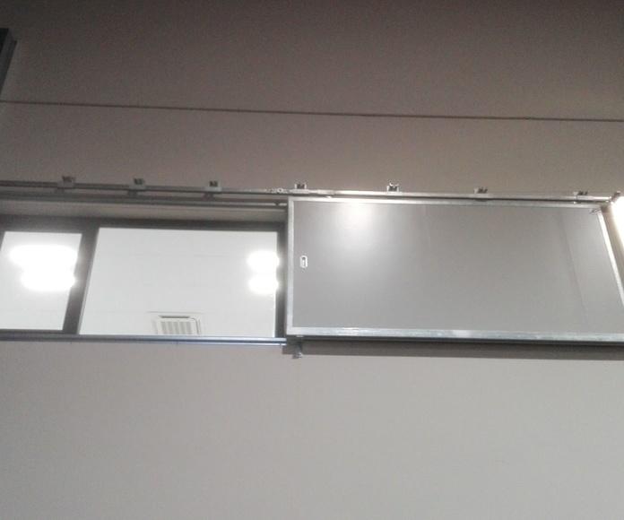 Puerta Corredera cortafuegos tipo ventana peso en cola  EI2-60 Santander