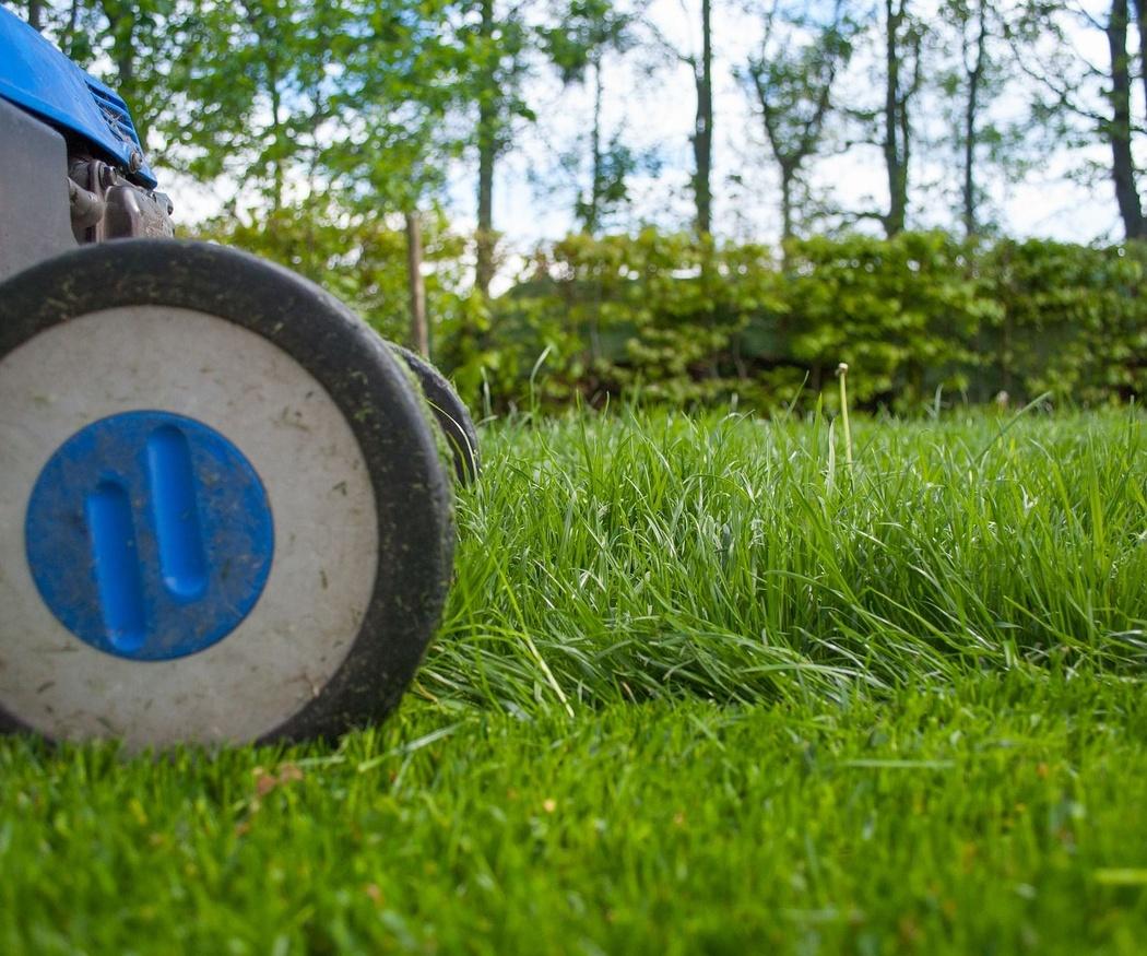 Jardín bien cuidado gracias a la maquinaria de jardinería