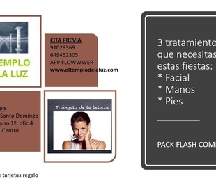 FLASH PACK cara manos pies