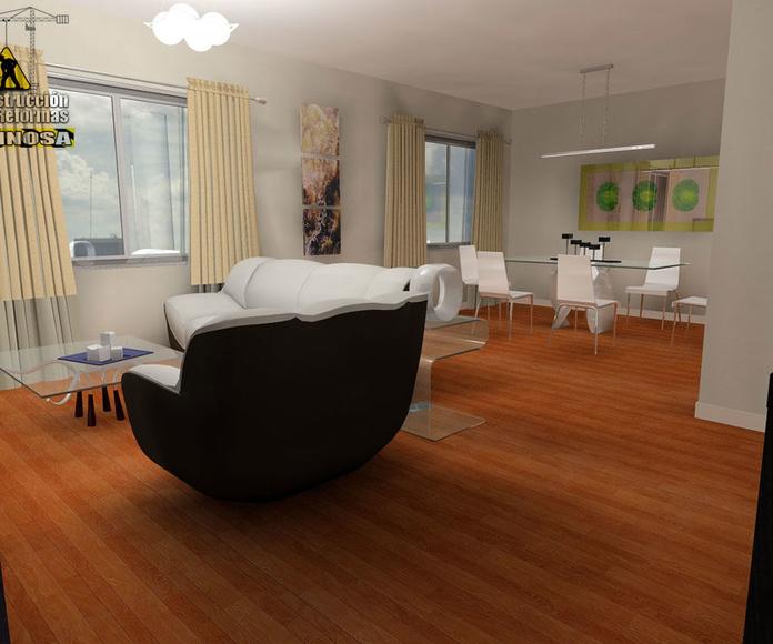 Presentación 3D de salón comedor
