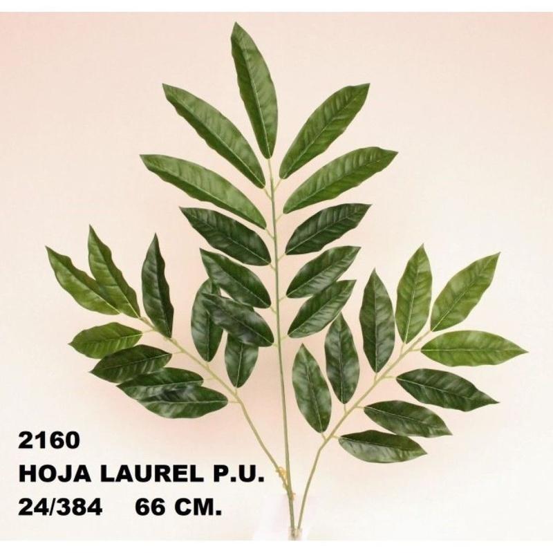 PQTE. 12 UNID. VARA HOJAS LAUREL (66 CM) COLOR:VERDE REF.:2160 VER PRECIO: 0,95 € C/U