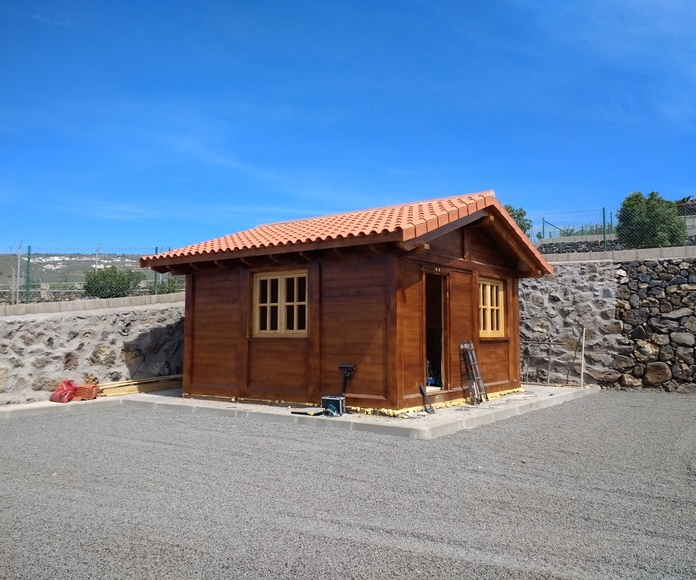Cabaña madera 25 m2 Tenerife Sur