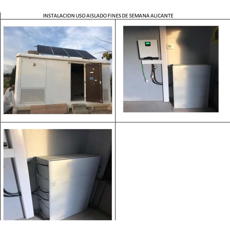 Proyectos - Instalaciones solares aisladas: Servicios de ESAA